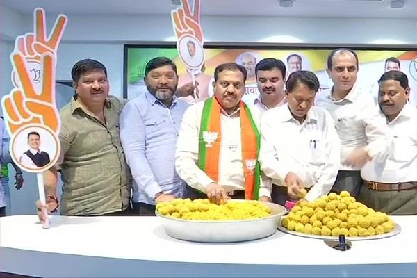 bjp prepares to celebrate before counting of votes