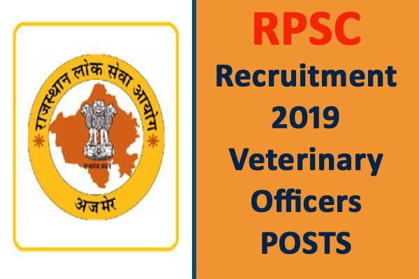 RPSC Recruitment 2019: पशु चिकित्सा ...