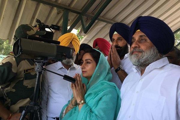 union minister harsimrat badal check arrangements of kartarpur corridor