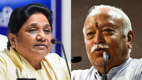 bsp not agree with mohan bhagwat s statement mayawati