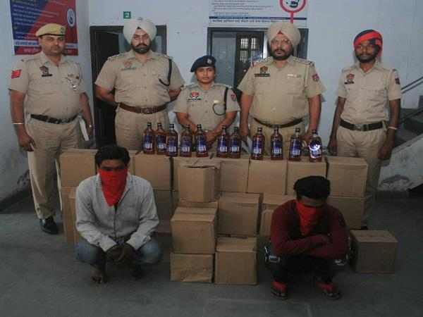 police recovered 215 boxes of illegal liquor