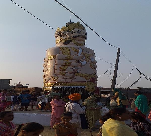 ravana is worshiped in payal in punjab