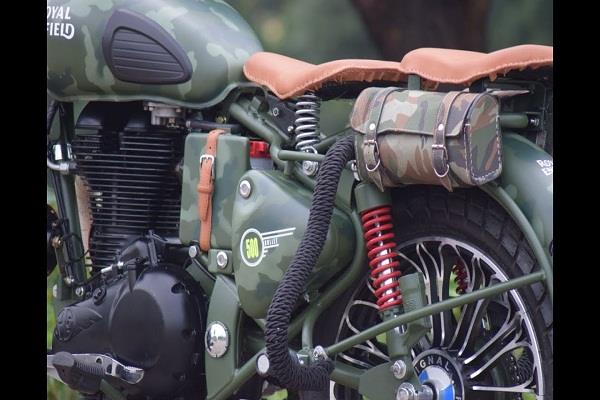 restrictions on the use of military colored bikes and uniforms