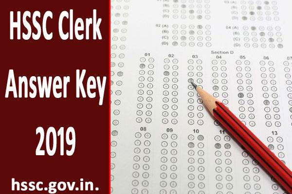 hssc clerk answer key for clerk recruitment exam released download soon