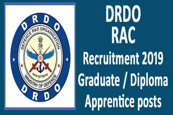 drdo rac recruitment 2019 for 116 graduate