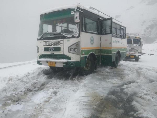 snow in rohtang
