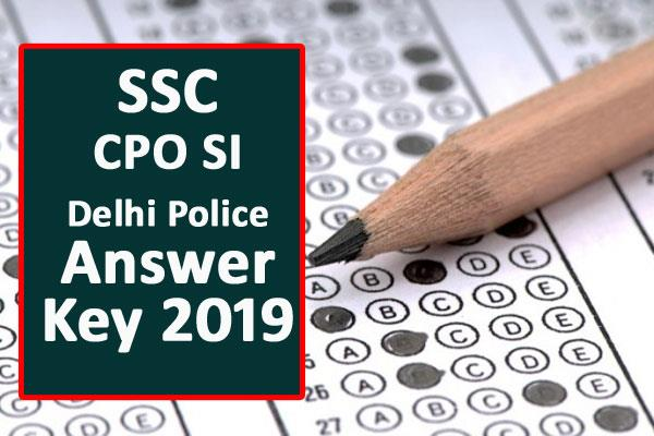 ssc cpo delhi police capf and cisf exam 2018 released