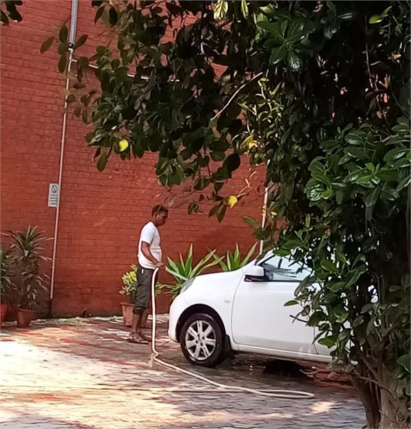 principal washed personal car from a school employee