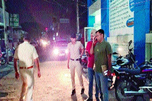 bike riding miscreants opened fire on student leader absconding from the spot