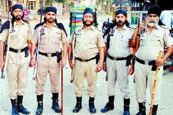 punjab and haryana police took up the front to maintain law and order