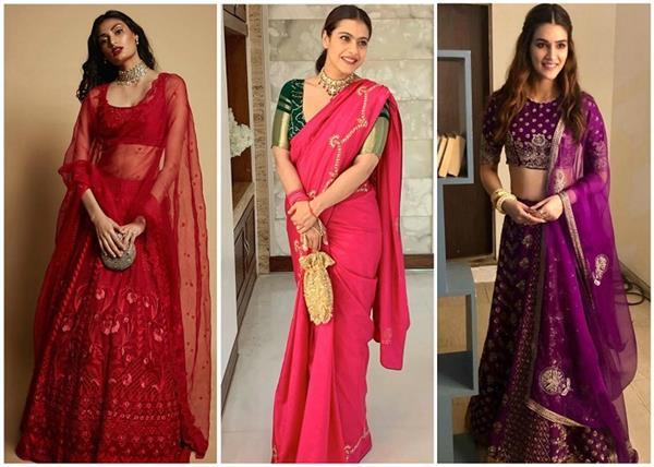 Karwa Chauth Special: बॉलीवुड दीवाज से लें परफेक्ट रंग के आउटफिट पहनने के आइडियाज
