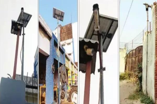 solar lights spent on showpiece costing