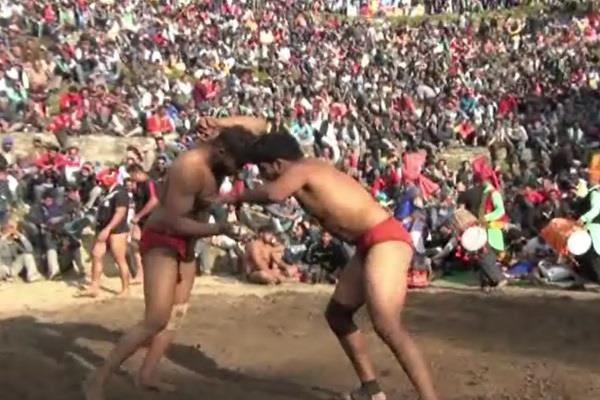chhinj fair organized in theog wrestlers entertained people