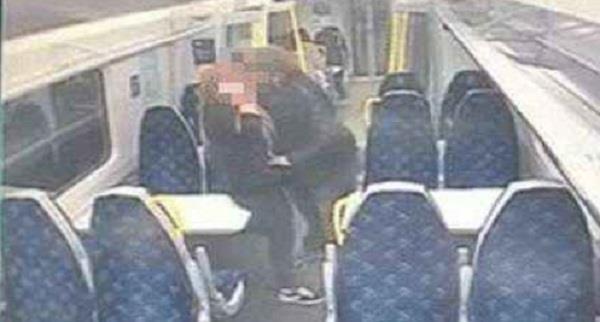 couple caught on cctv romping in glasgow edinburgh train