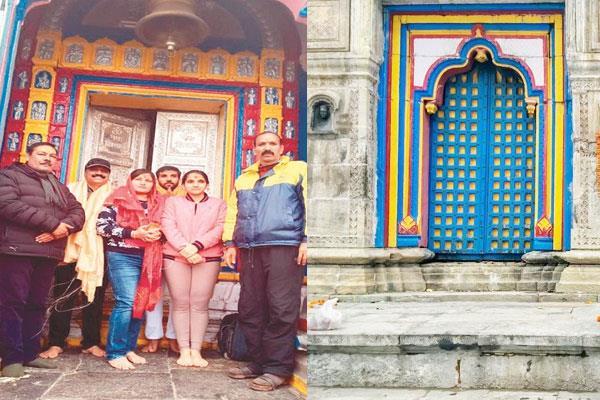 52 kg silver door offered to kedarnath