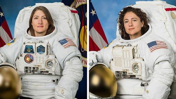nasa astronauts complete first ever all female spacewal