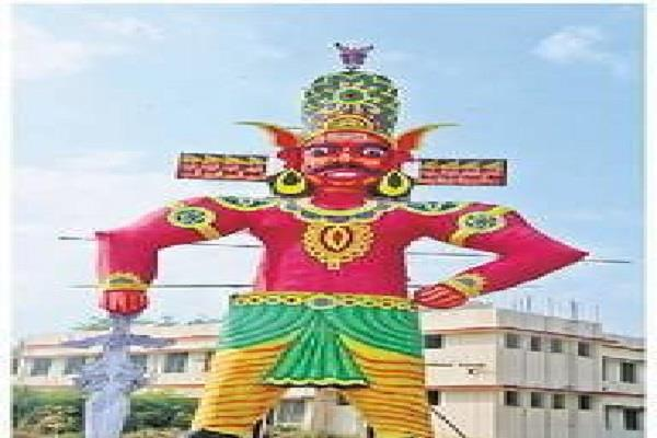 ravana combustion in dussehra ground this time ravan will burn 75 feet