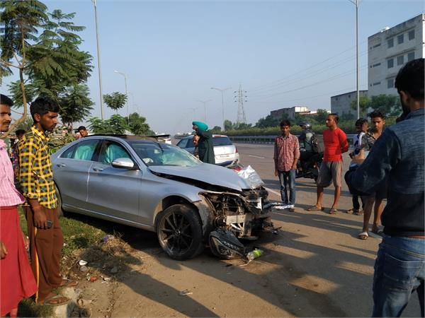 high speed car took the life of a bike driver