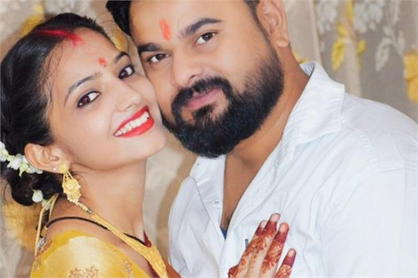 after marriage sakshi mishra holds first karvachauth for ajitesh