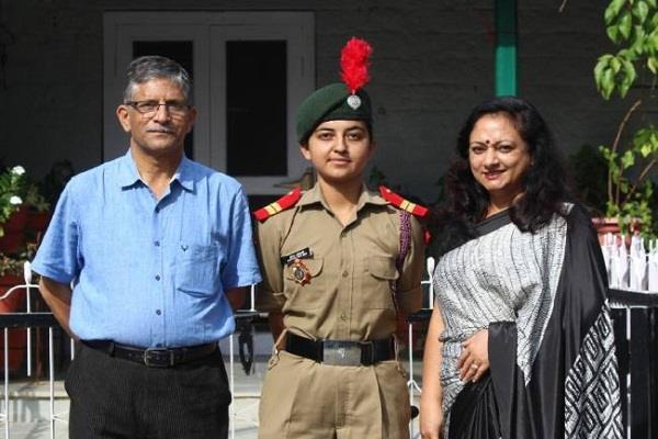 ncc cadet aanchal selected for international youth exchange program