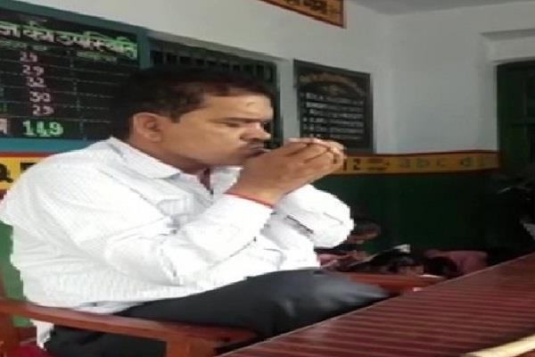 teacher suspended for smoking in school