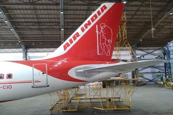 air india remembers bapu in a different way portraits painted tribute