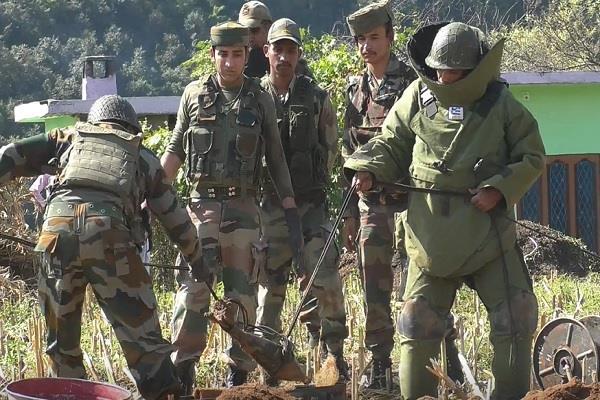 poonch alive evidence nefarious pak army destroys mortar shell