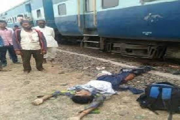 person commits suicide by jumping in front of train