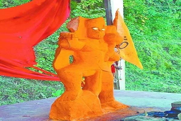 bajrangbali statue damaged accused youth arrested