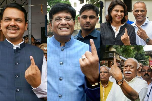 voting ended in 288 seats of maharashtra fate of veterans imprisoned in evms