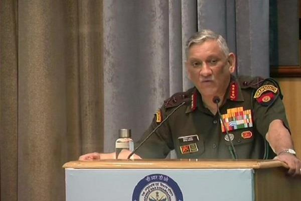 bipin rawat says army will win the war basis of indigenous weapons