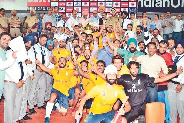 punjab and sind bank became the champion