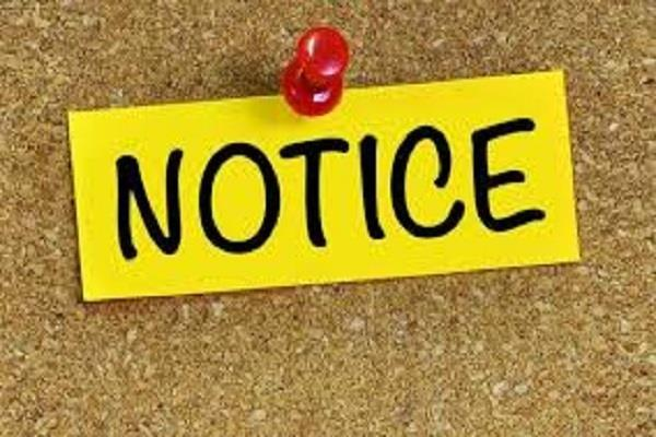 sending notice to 400 principal headmasters seeking clarification