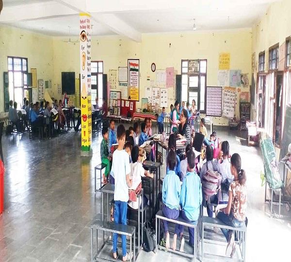room one class 5 in government primary school