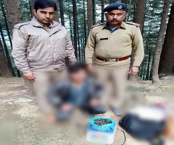 one arrested with hashish