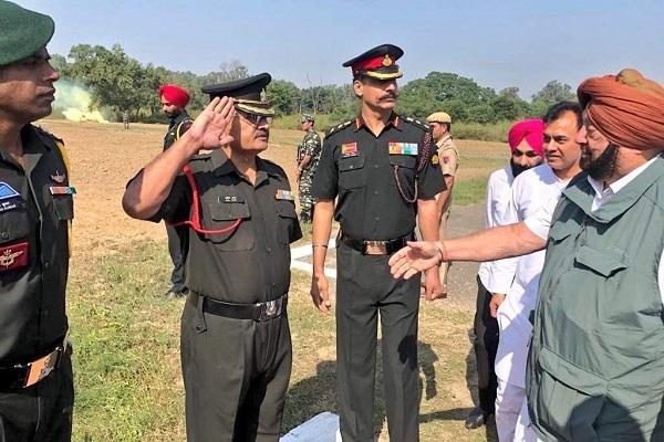 captain amarendra singh encouraged the soldiers