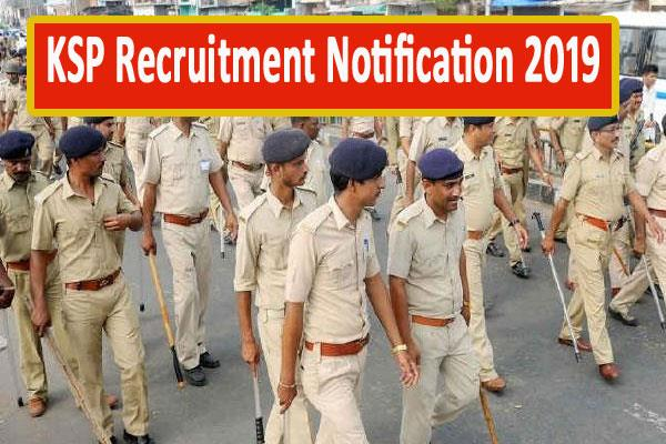 ksp recruitment notification 2019 for constable posts