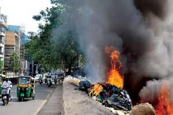 ban on burning of waste and plastic corporation officials imposed