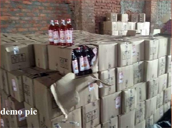 sales tax department caught 1000 cases of liquor before elections