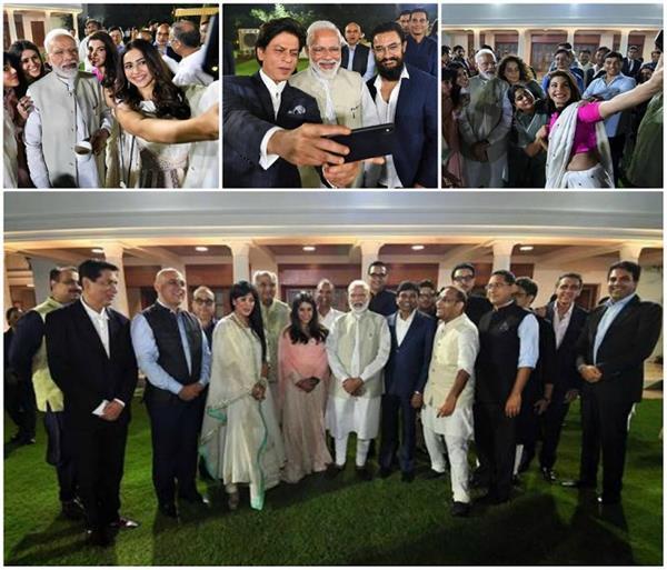 बॉलीवुड सेलेब्स ने PM मोदी के साथ ली जमकर सेल्फी, एक्साइटेड दिखीं जैकलीन
