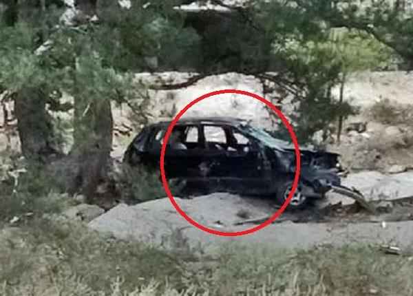painful car accident in kinnaur two people died on the spot