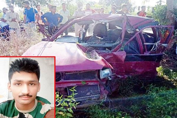 uncontrollable car collides with tree soldier dies