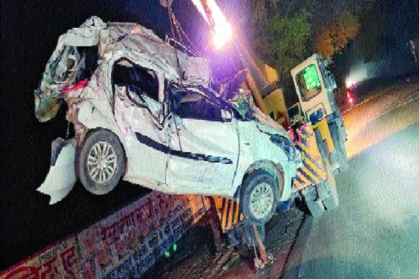 tragic road accident in hisar car overturned three women killed two injured