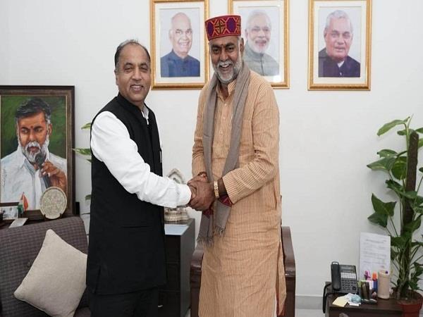 cm jairam met the minister of state in delhi