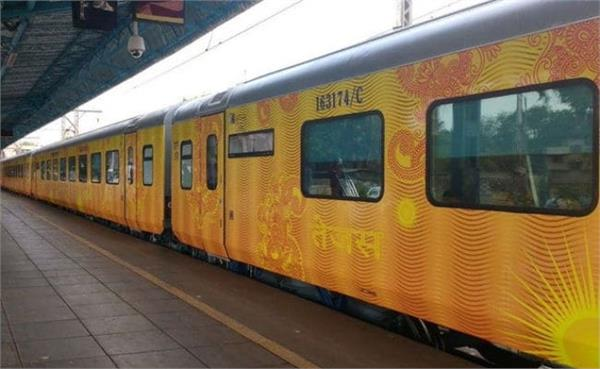 tejas express narrowly survives due to accident