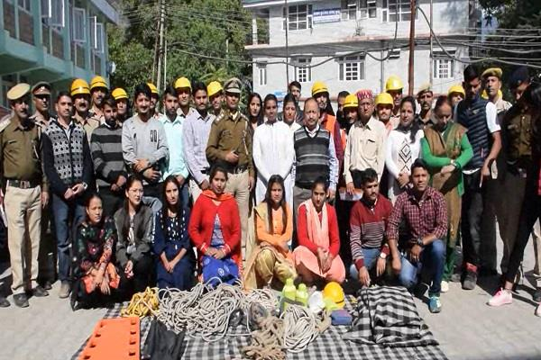 mock drill conducted in small secretariat complex fire prevention exercise