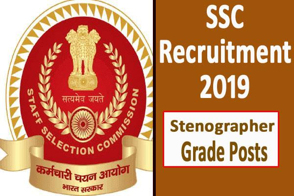 ssc recruitment 2019 for stenographer grade posts apply soon
