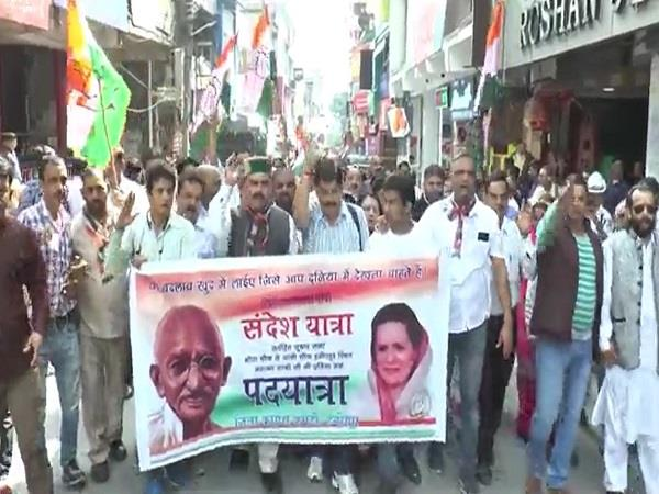 padyatra organized to keep gandhi s ideals alive in