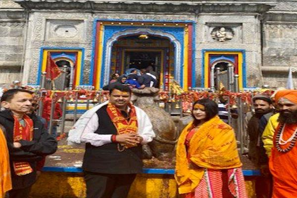 cm fadnavis arrived kedarnath before election result