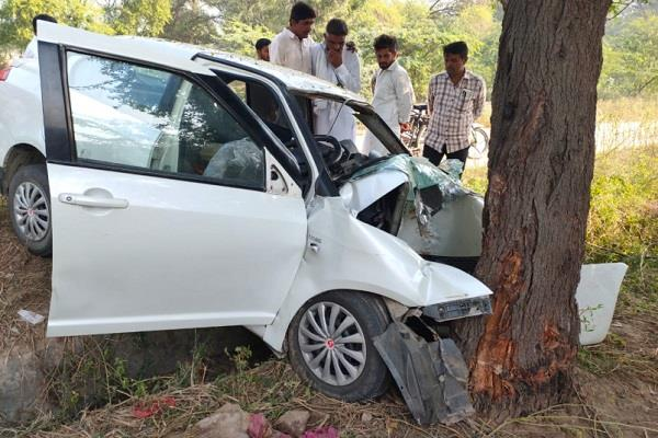 high speed car collided with tree one killed three people seriously injured